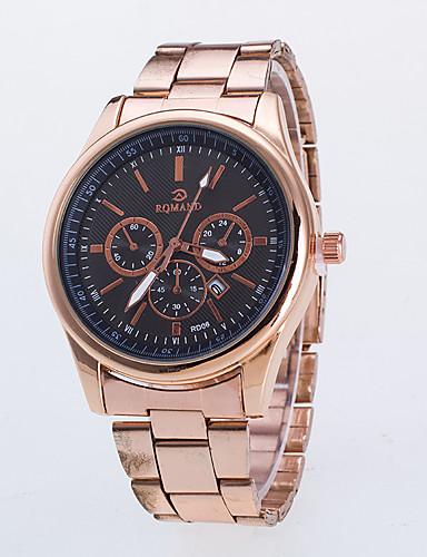 Masculino Relógio Elegante / Quartzo Lega Rosa Folheado a Ouro Banda Casual Dourada