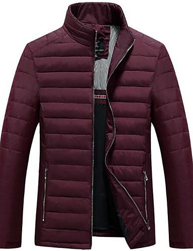 コート ロング ダウン メンズ,カジュアル/普段着 ソリッド コットン 中綿なし-シンプル 長袖