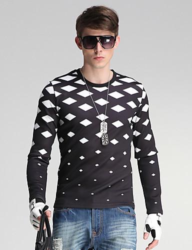 Heren Eenvoudig Street chic Casual/Dagelijks Sweatshirt Print Ronde hals Micro-elastisch Katoen Polyester Lange mouw Alle seizoenen