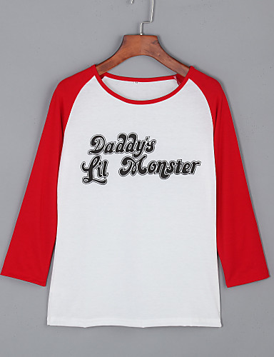 Dames T-shirt Letter Katoen