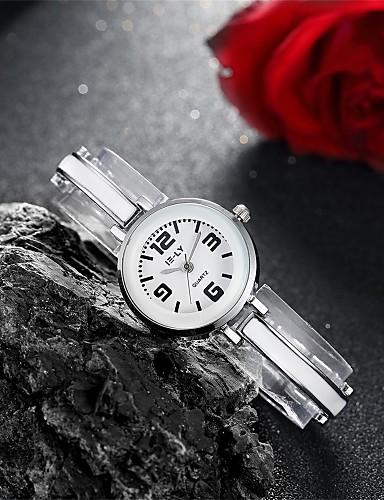 Dames Armbandhorloge Modieus horloge Kwarts Waterbestendig Legering Band Amulet Informeel Zwart Zilver Roze