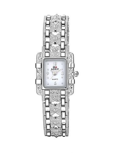 Dames Modieus horloge Armbandhorloge Vrijetijdshorloge Kwarts Waterbestendig Legering Band Amulet Informeel Elegant Zilver