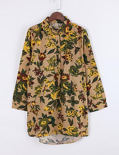 Krave Dame - Blomstret / Patchwork Gade Skjorte