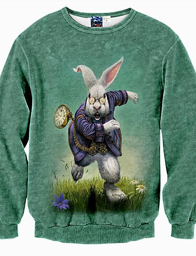 Heren Actief Eenvoudig Punk & Gothic Casual/Dagelijks Sweatshirt Print Ronde hals Micro-elastisch Polyester Lange mouw Herfst Winter
