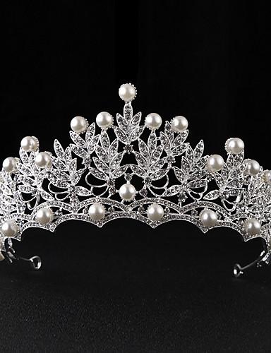 voordelige Koninklijke trouwjurken-Imitatieparel / Legering tiaras met 1 Bruiloft / Speciale gelegenheden / Causaal Helm
