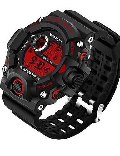 a7854e1e35c SANDA Homens Relógio Esportivo Relógio inteligente Relógio de Pulso Digital  Quartzo Japonês Silicone Preta 30 m Impermeável Cronógrafo LED Digital Luxo  ...