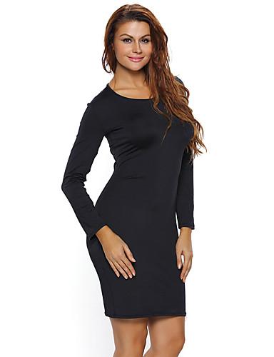 女性用 ボディコン ドレス - バックレス, ソリッド ミニ ハイライズ