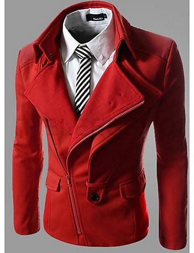 男性用 ジャケット - ストリートファッション スリム ソリッド