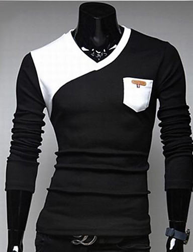 Men's Sports Cotton T-shirt - Color Block