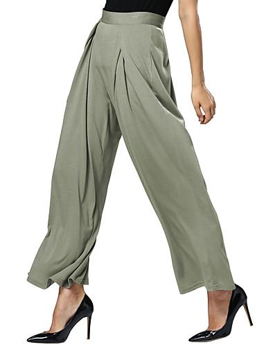 女性用 カジュアル ストリートファッション ルーズ チノパン パンツ ソリッド