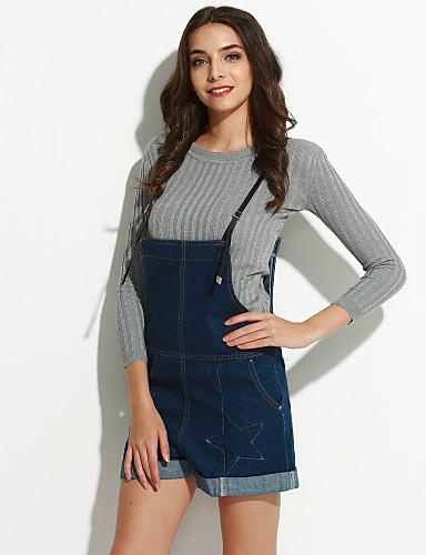 Dame Afslappet Hængende Shorts Bukser Ensfarvet