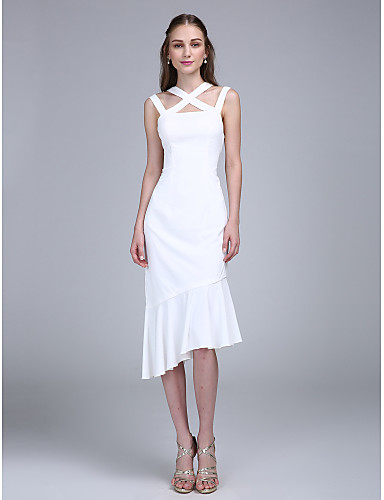 Eng anliegend Asymmetrisch Chiffon Cocktailparty Abschlussball Ball Kleid mit Plissee durch TS Couture®