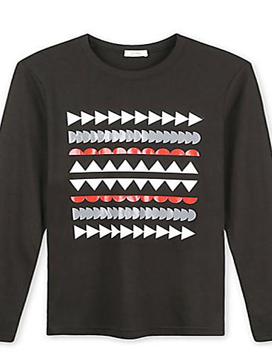Trenduality® Muškarci Okrugli izrez Dugi rukav Majica Crna Fade - 43266