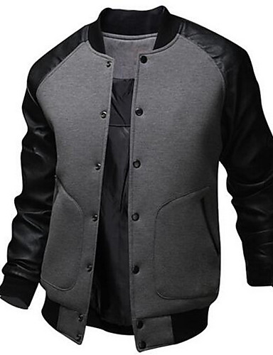 Men's Active Cotton Bomber Jacket - Patchwork