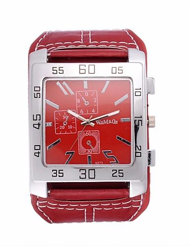 للرجال ساعة المعصم كوارتز ساعة كاجوال كوول / جلد فرقة مماثل قديم كاجوال موضة أسود / الأبيض / أحمر - أسود بني أحمر
