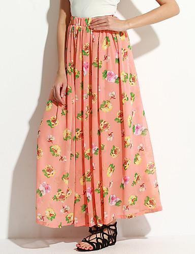 Mujer Boho Playa Faldas Floral / Verano / Maxi
