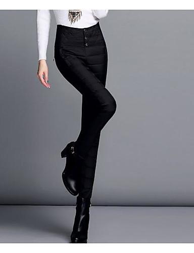 Naiset Yksinkertainen Mikrojoustava Chinos housut Housut,Ohut Korkea vyötäröYhtenäinen