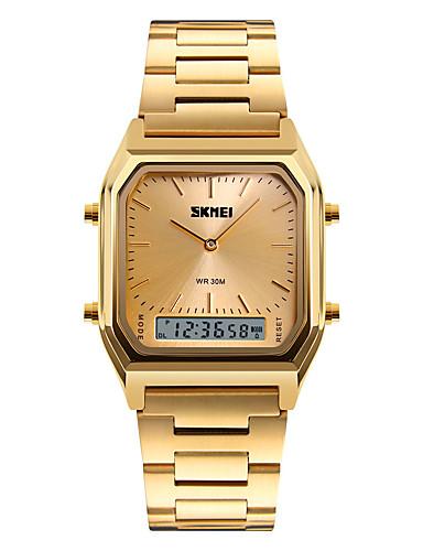 SKMEI Homens Quartzo / Digital Relógio de Pulso Alarme / Calendário / Cronógrafo / Impermeável / Legal / Noctilucente / Cronômetro / Três