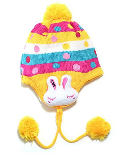 Mädchen Hüte & Kappen Winter Strickware Gelb