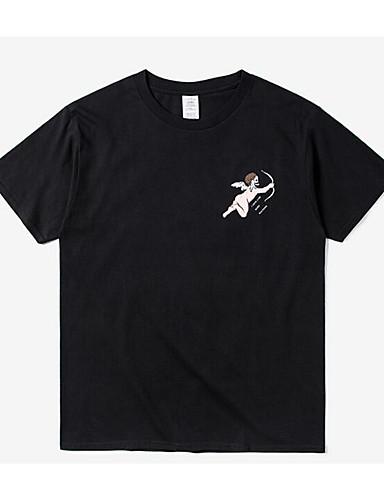 Herren Solide Einfach Ausgehen T-shirt,Rundhalsausschnitt Alle Saisons Kurzarm Baumwolle Dünn