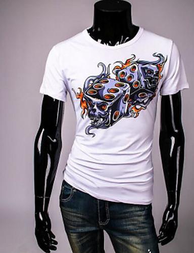 Herren Solide Einfach Sport T-shirt,Rundhalsausschnitt Sommer Kurzarm Spezielle Lederarten Dünn