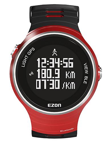 EZON Men's Smart Watch Digital Rubber Band Black Red Yellow