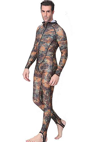 baratos Roupas de Mergulho & Camisas de Proteção-Dive&Sail Homens Segunda-pele para Mergulho 1mm Elastano Roupa de Banho Roupas de Mergulho Prova-de-Água Térmico / Quente Proteção Solar UV Natação Mergulho Surfe Retalhos camuflagem / Respirável