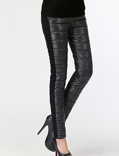 Damen Street Schick Mittlere Hüfthöhe Micro-elastisch Chinos Skinny Hose einfarbig