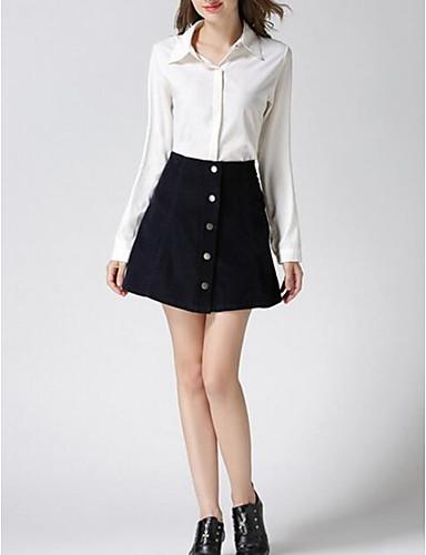 Damen Vintage Lässig/Alltäglich Mini Röcke A-Linie einfarbig Frühling
