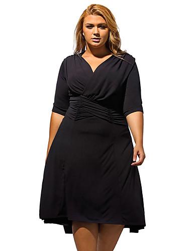 f7259bf68c2b Γυναικείο Επίσημα Μεγάλα Μεγέθη Απλό Φαρδιά Φόρεμα