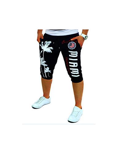 Activo Algodón Corte Ancho / Activo / Chinos Pantalones - Letra Estampado / Deportes