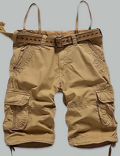 Hombre Tallas Grandes Corte Recto Delgado Chinos Shorts Pantalones,Un Color Bloque de Color Casual/Diario Playa DeportesSencillo Chic de