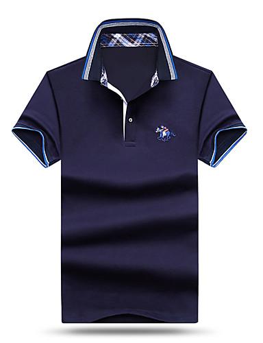 رجالي قطن بولو ستايل قبعة القميص - رياضي Active لون سادة / كم قصير / شاطئ