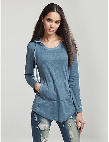 Naisten Puuvilla Tupsu T-paita, Yhtenäinen