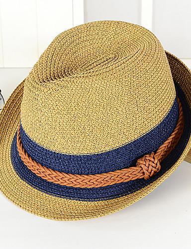 Unisex Sombrero Playero   Sombrero de Paja   Sombrero para el sol -  Vacaciones Bloques 6bfa70feee17