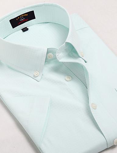 U&Shark Casual&Dress Men's Fine Cotton Wrinkle-Resistant Short Sleeve Shirt  /DYF-023