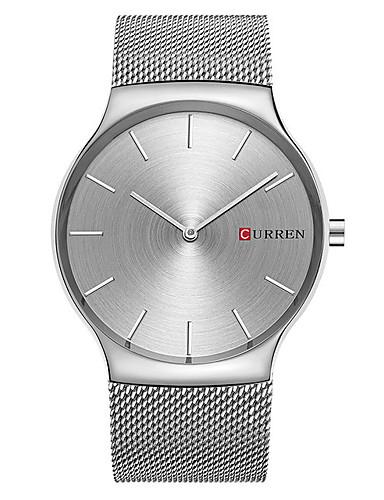 CURREN Hombre Reloj de Pulsera Reloj Casual / / Aleación Banda Casual / Moda / Minimalista Plata / Dorado