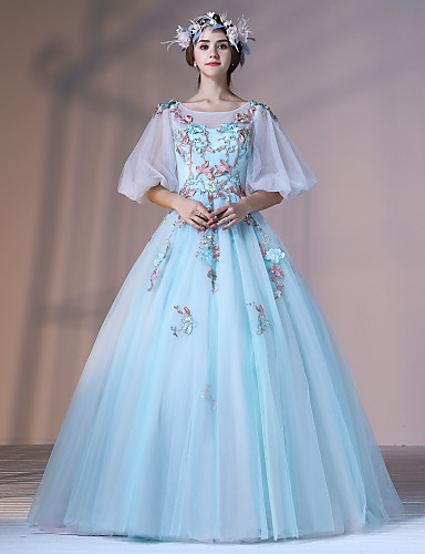 87b52ddf3934 Επίσημο Βραδινό Φόρεμα Βραδινή τουαλέτα Με Κόσμημα Μακρύ Δαντέλα Τούλι  Ελαστικό Σατέν με Διακοσμητικά Επιράμματα Λουλούδι