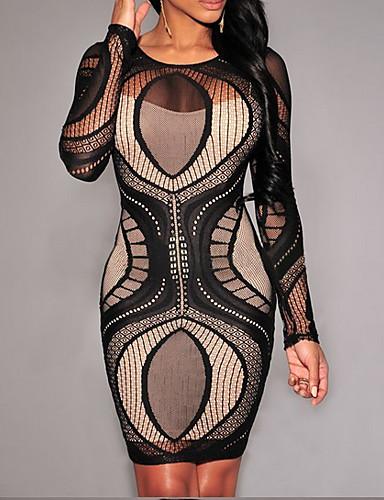 ae50bb90b30 aliexpress ebay brodé doublé hanche paquet serré robe en dentelle à manches  longues spot commerce extérieur