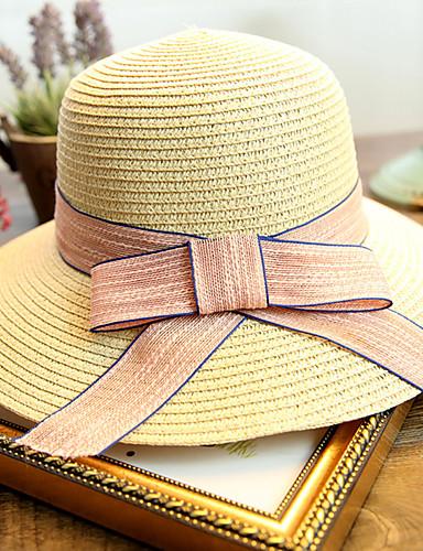 Mujer Sombrero Playero Sombrero de Paja Sombrero para el sol - Bonito Un  Color 5708081 2019 –  8.39 3403a55c3c8