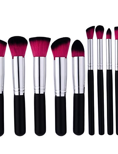 cheap Makeup Brushes-10pcs Makeup Brushes Professional Makeup Brush Set Portable / Professional / Full Coverage Wooden