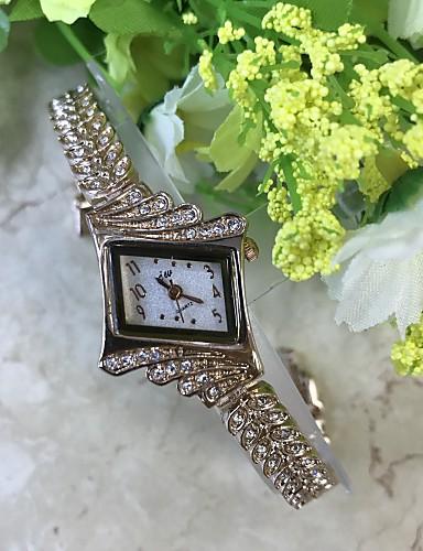 Mulheres Bracele Relógio / Simulado Diamante Relógio Chinês / Lega Banda Casual Rose / Um ano / SSUO LR626