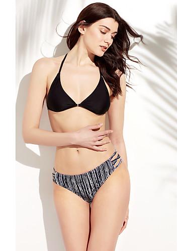 Nais- Polyesteri Eläinkuvio Bikini, Halter