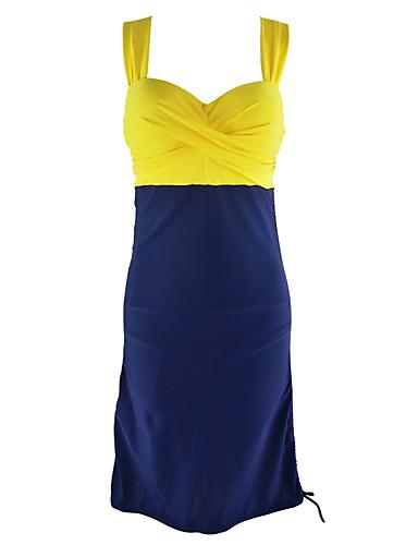 povoljno Ženske majice-Žene Na vezanje Na vezanje oko vrata žuta Bijela Tankini Kupaći kostimi - Kolaž XL XXL XXXL žuta