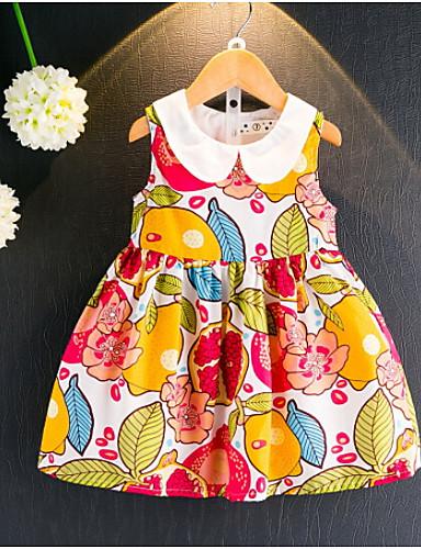 여자의 드레스 플로럴,여름 면 레이온 민소매