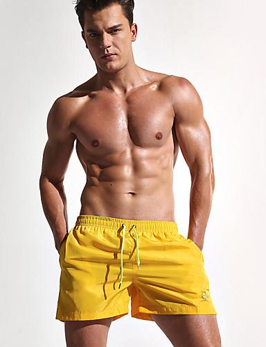 Homens Solto Shorts Calças Esportivas Calças - Sólido, Clássico Fenda Côr Pura Estampado