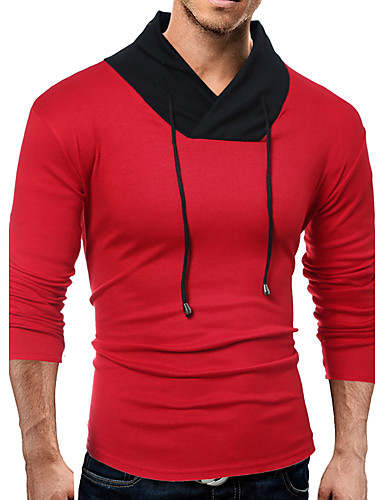 Herrn Solide - Chinoiserie Baumwolle T-shirt, V-Ausschnitt