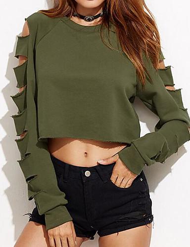 Damen Pullover Solide Baumwolle / Sommer