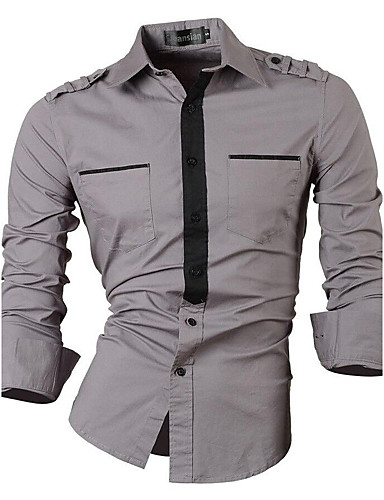 Homens Camisa Social - Festa Estampa Colorida Algodão