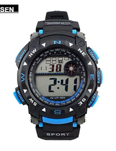 Pánské Sportovní hodinky Digitální hodinky čínština Digitální Kalendář Voděodolné Stopky Pryž Kapela Černá